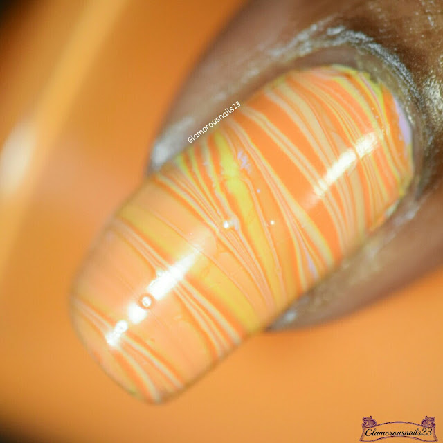 Watermarble Wednesdays: Lilac, Yellow & Orange