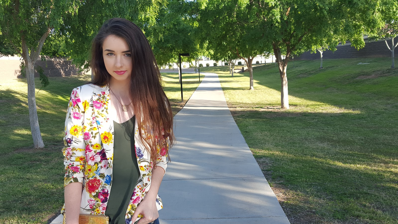 floral blazer- perfect for Spring!