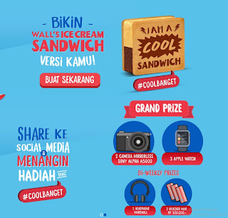Kontes Foto Wall's Cool Sandwich Berhadiah Utama 2 Sony Alpha A5000 & 3 Apple Watch