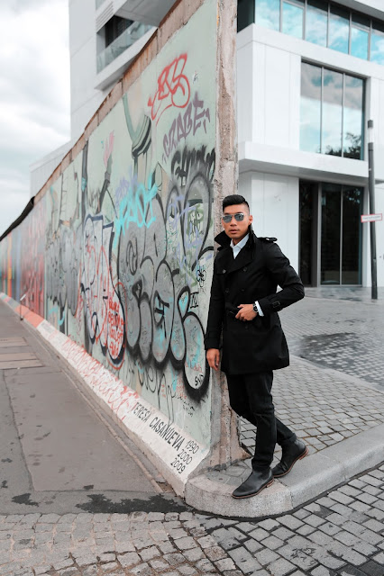 Leo Chan at the Berlin Wall during Royal Caribbean Cruise