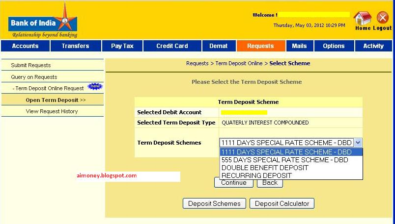 How To Open Online RD (Recurring Deposit) Account in BANK ...