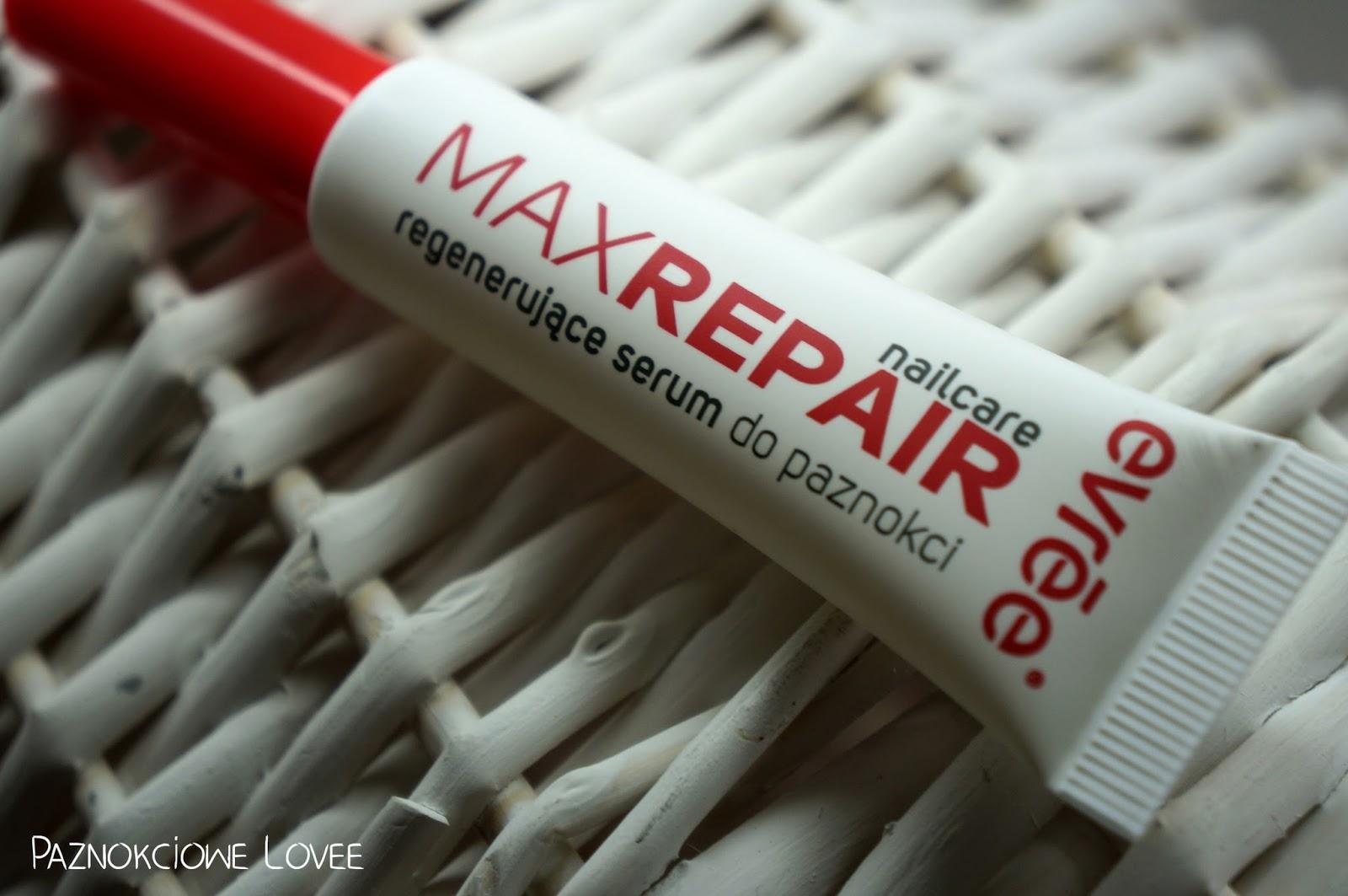 Max repair, regenerujące serum do paznokci Evrēe®, czyli dbamy o paznokcie.