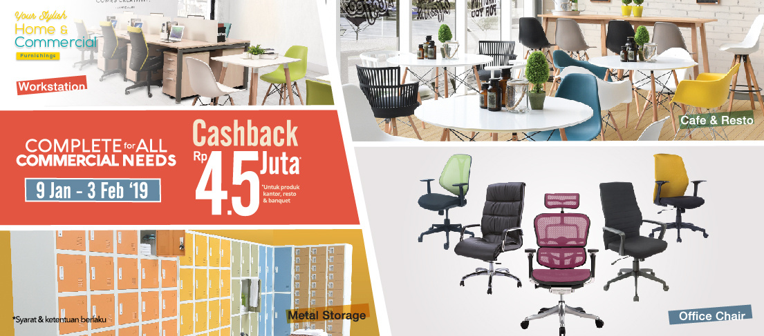 #Informa - Promo Cashback 4,5 Juta Untuk Furniture BISNIS (s.d 3 Feb 2019)