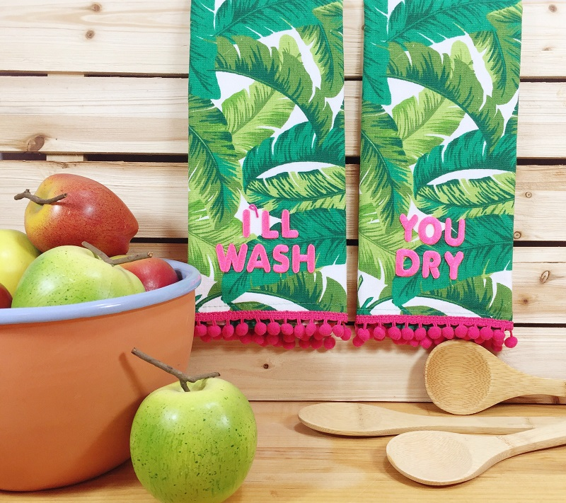 Creating with Joy: Palm Tree Kitchen Towels