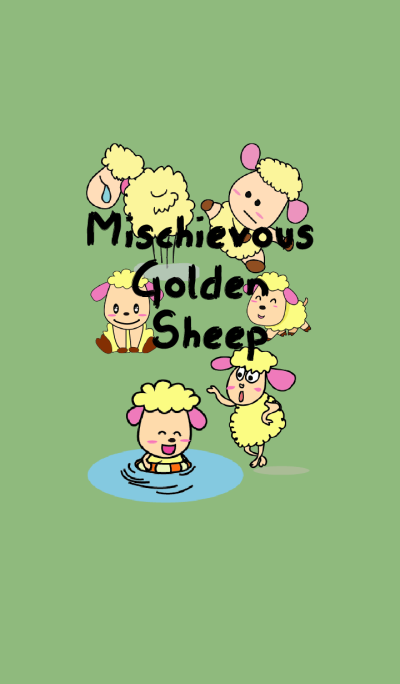 One of us: A Mischievous Golden Sheep