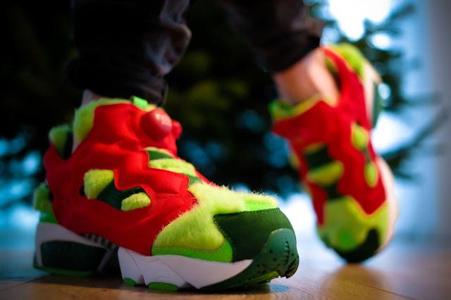 """Reebok Instapump Fury CV """"Grinch"""" - Love it or hate it - Der Sneaker für die Weihnachtszeit sorgt für Furore."""