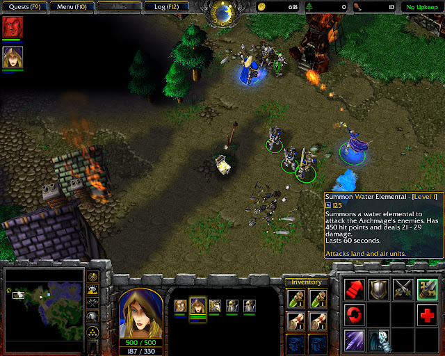 Ravages of the Plague Mission 5 | Jaina Screenshot | Warcraft 3: Reign of Chaos