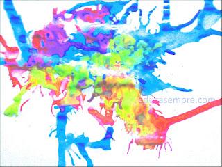 Técnicas de pintura com cola colorida