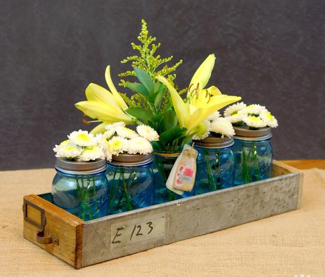 mason jar herb centerpieces