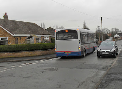 Picture: A 91 Brigg Town Service bus on Yarborough Road, Brigg - see Nigel Fisher's Brigg Blog, December 2018