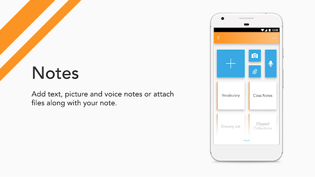 Android app UI and UX : bud Notes