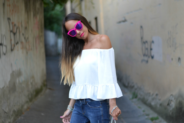 top off shoulders bianco