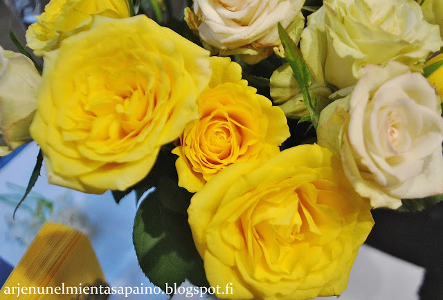 synttärit, ruusut, kukat, koriste, kahvipöytä, juhlat