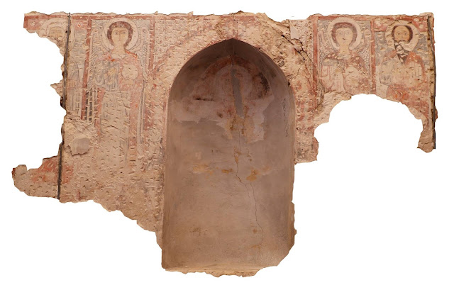Medieval Coptic murals uncovered at Egyptian monastery