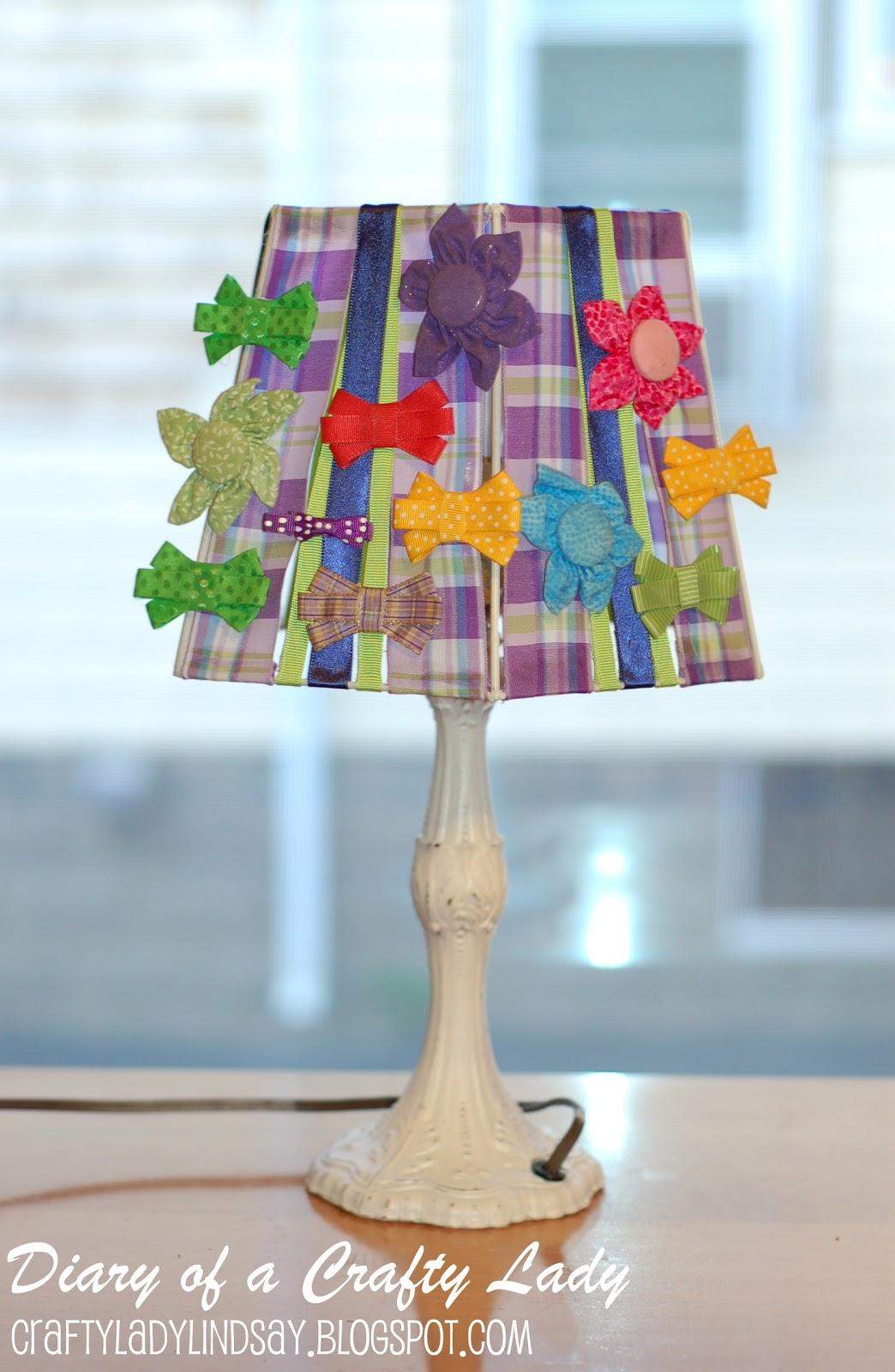 Diary of a crafty lady lamp shade bow holder lamp shade bow holder aloadofball Choice Image