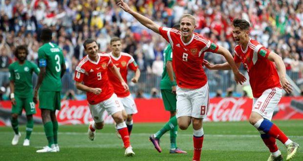 تقارير صحفية تشير بأن لاعبي منتخب روسيا تعاطوا منشطات قبل مباراة السعودية الماضية