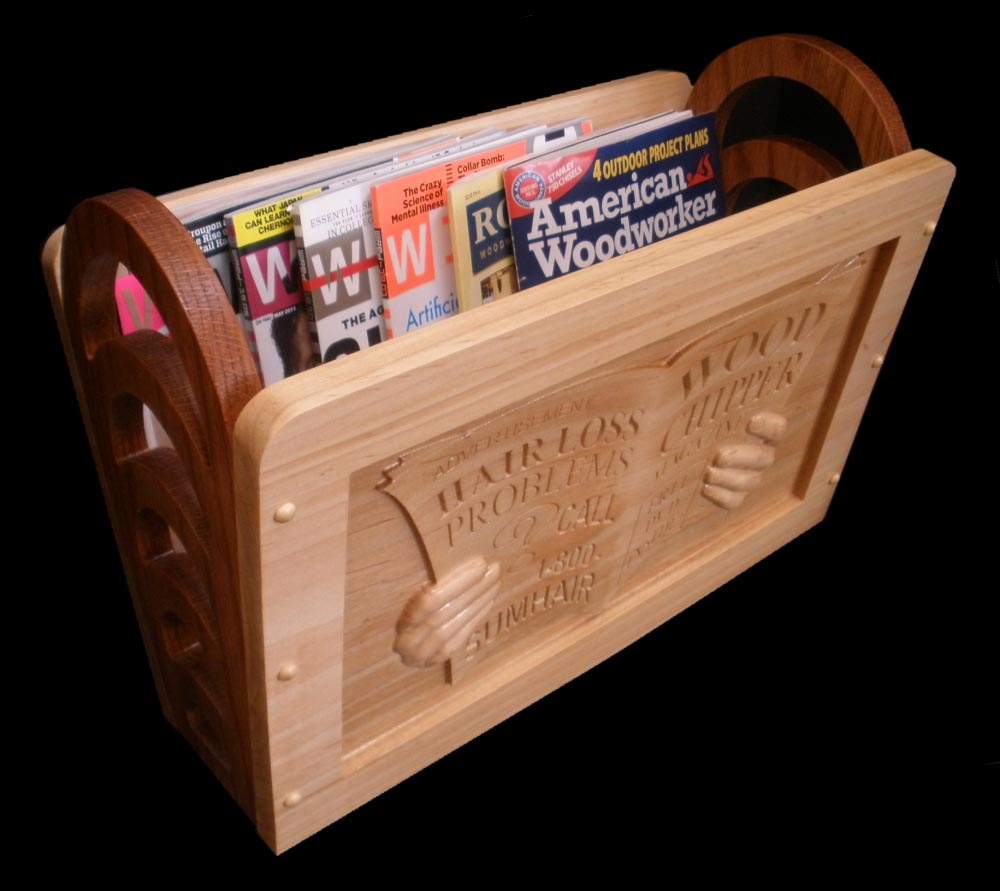 Choice Shop free woodworking plan magazine rack | Popular Woodworking