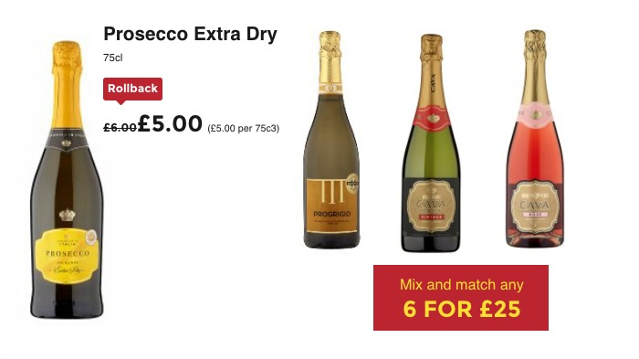 Save over 30% on Sparkling Wine at ASDA