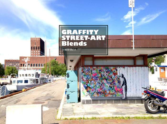 perpaduan seni stensil dan grafiti