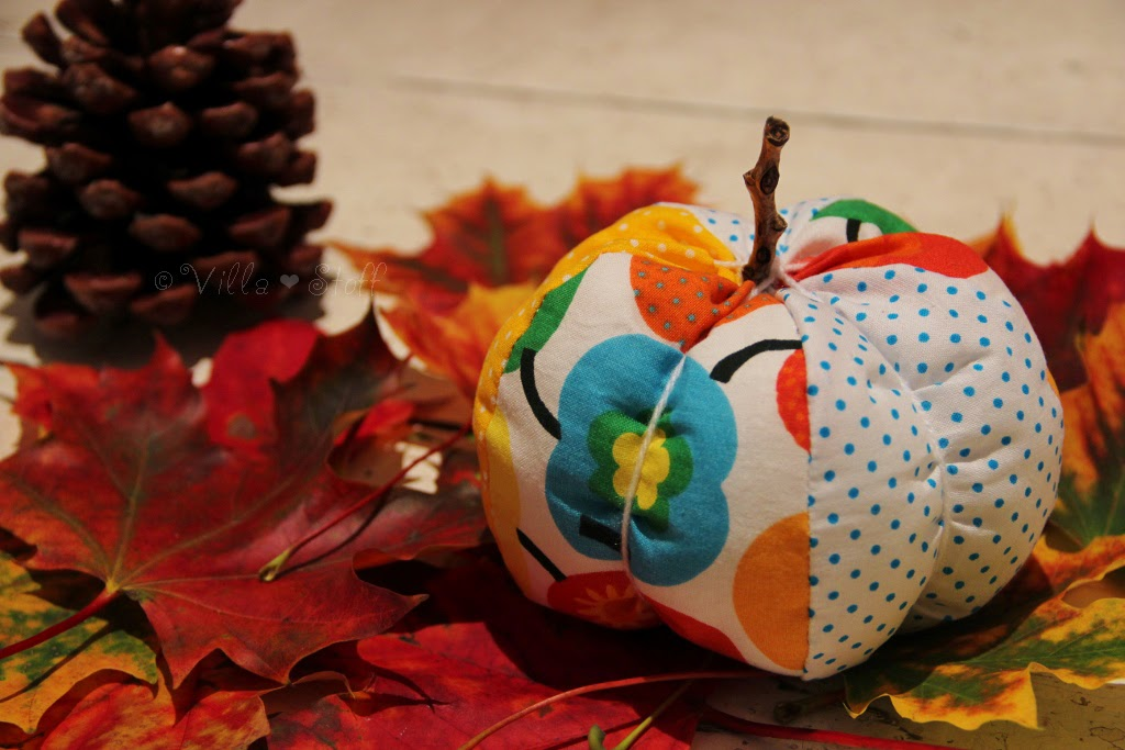 Herbstdeko Nahen Anleitung : Dafür werden fünf (oder sechs - je nach ...