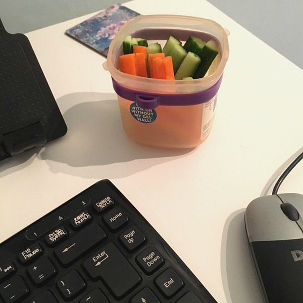 carrot sticks and cucumber