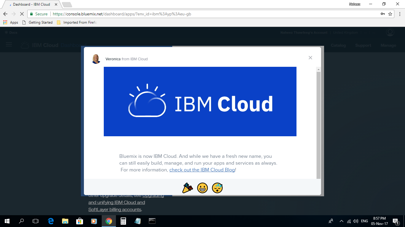 ... Https://www.ibm.com/blogs/bluemix/2017/11/introducing Ibm Cloud Lite Account/  ) ... :) ... Allah Akbar...Allah Is Great..( Location : Maleu0027.