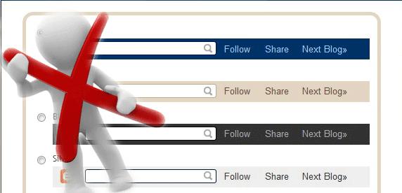 """حذف الشريط العلوي """"Navbar"""" في بلوجر"""