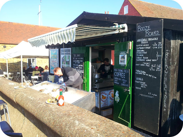 oyster bar, whitstable beach