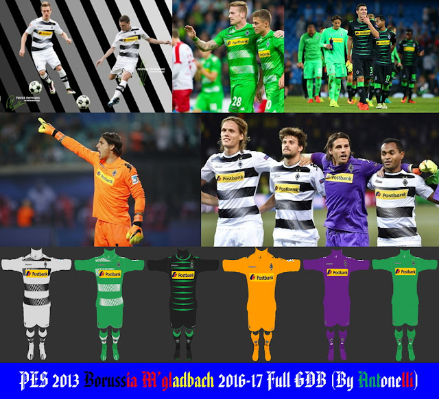 PES 2013 Borussia Mönchengladbach 2016-17 Full GDB (BY ANTONELLI)