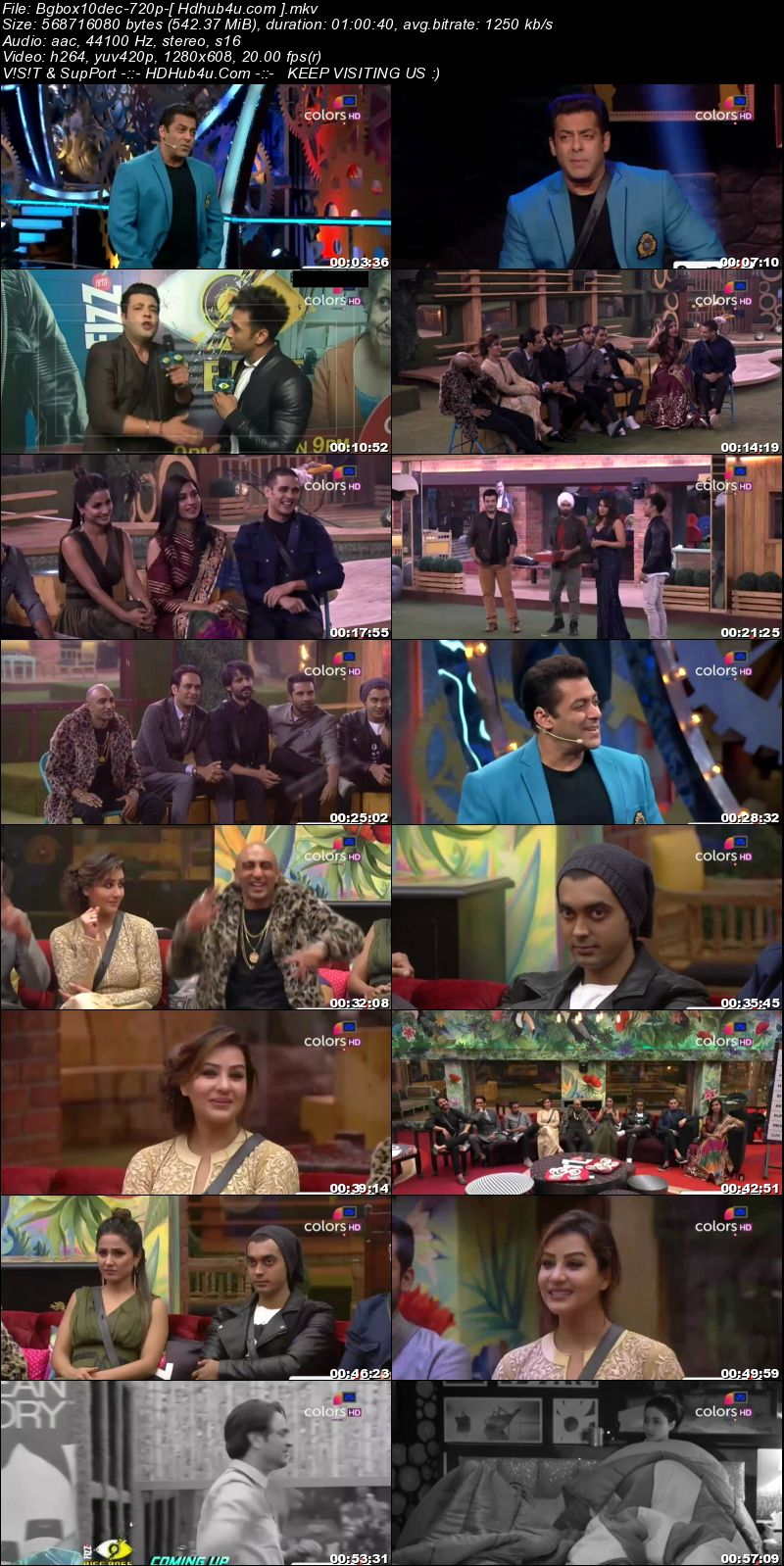 Bigg Boss S11E71 10th December 2017 HDTV 480p 250MB Download