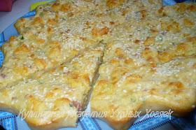 пирог с ветчиной и сыром разрез