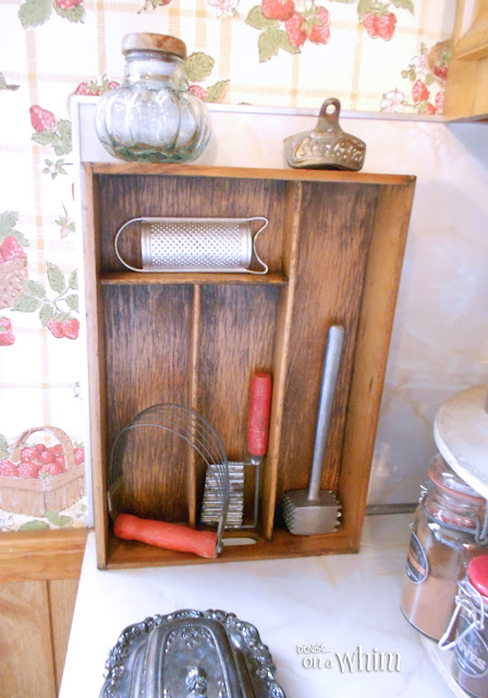 Wooden Silverware Organizer Display Shelf | Denise on a Whim