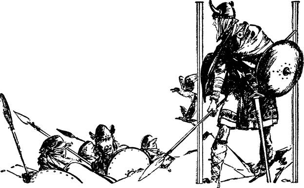 Illustration for Adventure, May 15 1933 - The Breaker of Brynas by Malcolm Wheeler-Nicholson