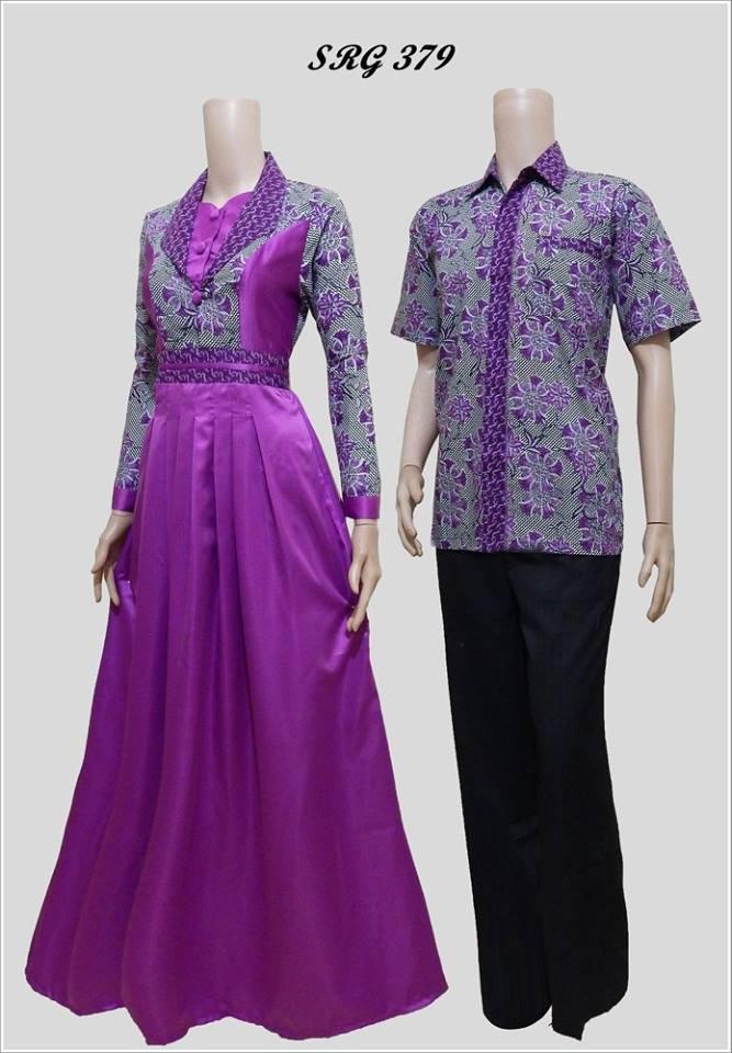 Baju Batik Couple Model Gamis Srg 379
