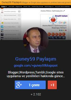 Adnan Güney Google Plus Badge