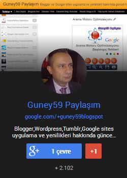 Adnan Güney Google Plus Badge