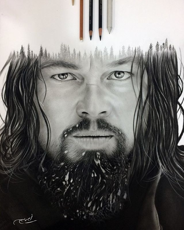 08-Leonardo-Dicaprio-The-Revenant-aymanarts-Realistic-Drawings-of-Celebrities-and-Other-www-designstack-co