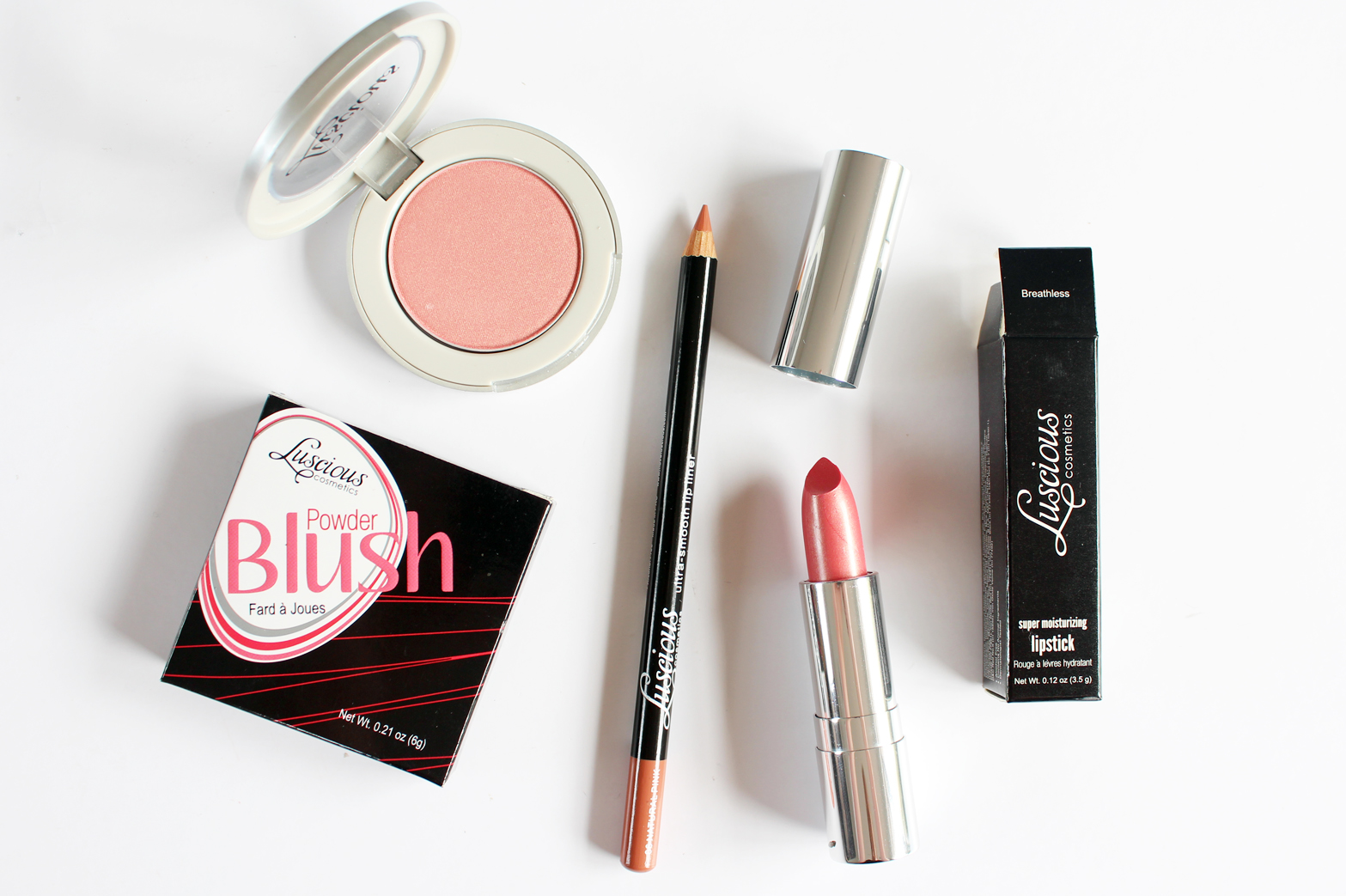 SEPHORA NEW ZEALAND | Haul - Reviews + Swatches - Luscious Cosmetics Rose Gold Value Set, Powder Blush in Champagne, Ultra Smooth Lip Liner in Natural Pink + Sheer Moisturizing Lipstick in Breathless - CassandraMyee