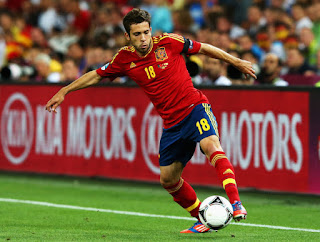 Jordi Alba bermain untuk Spanyol