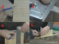 Terminar de marcar los huecos de la unión. http://www.enredandonogaraxe.com