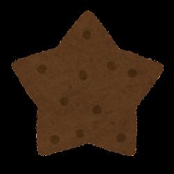 クッキーのイラスト(チョコレート味)