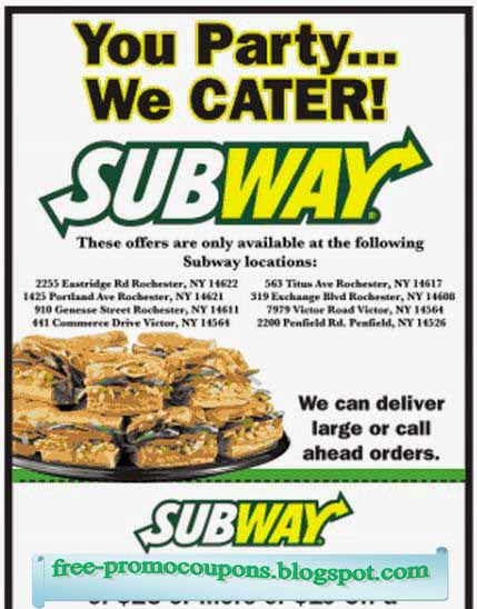 Subway coupon code