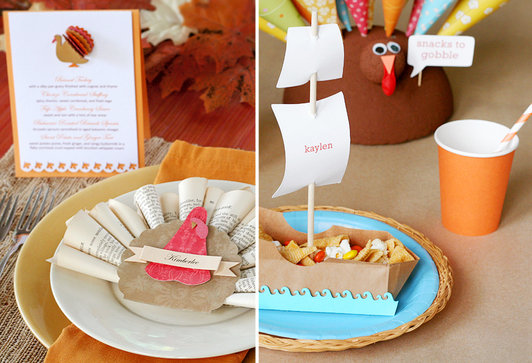 Handmade Thanksgiving Place Cards And Table Ideas