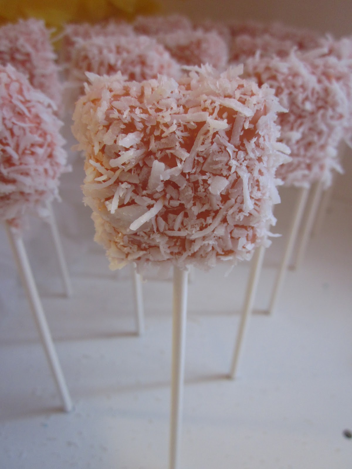 Lamington Cake Pops