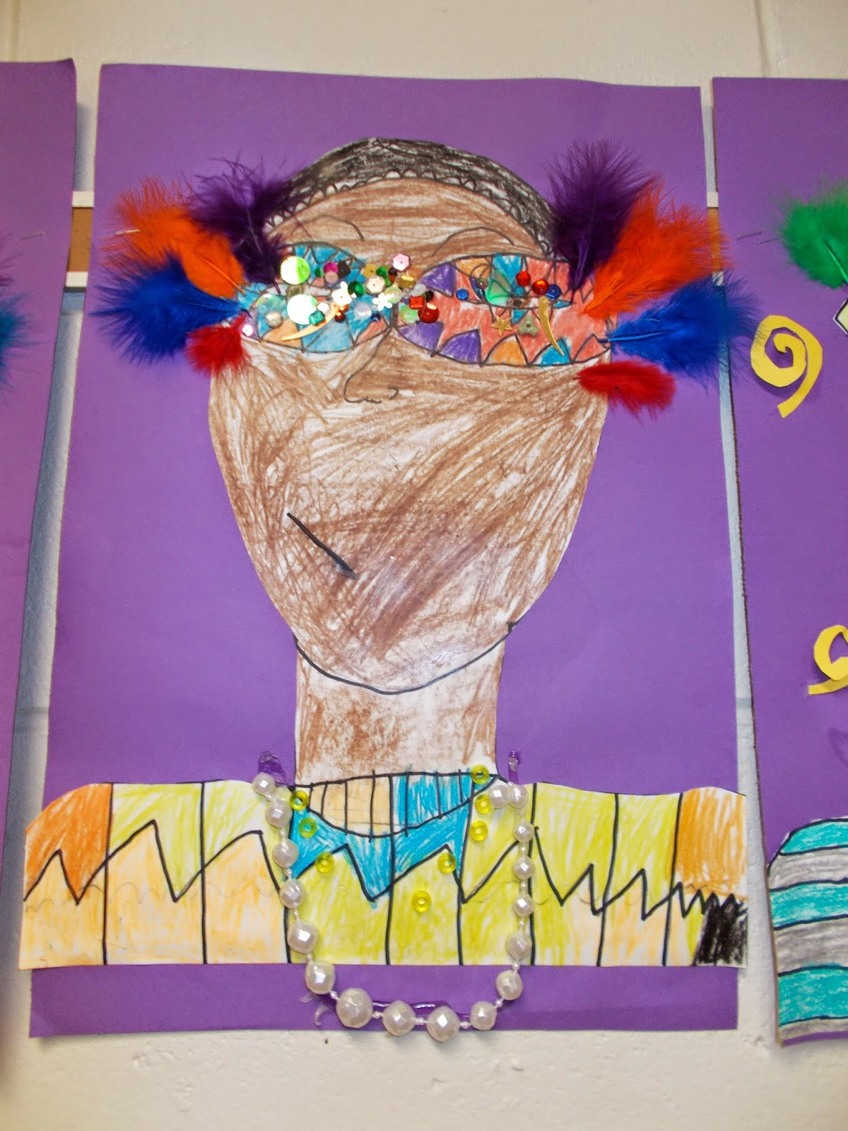Mrs Pierce S Polka Dot Spot Mardi Gras Self Portraits