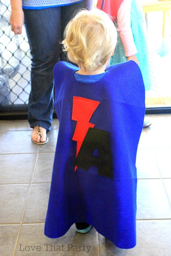 superhero cape birthday party