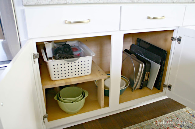 Hacks for organizing lower cabinets