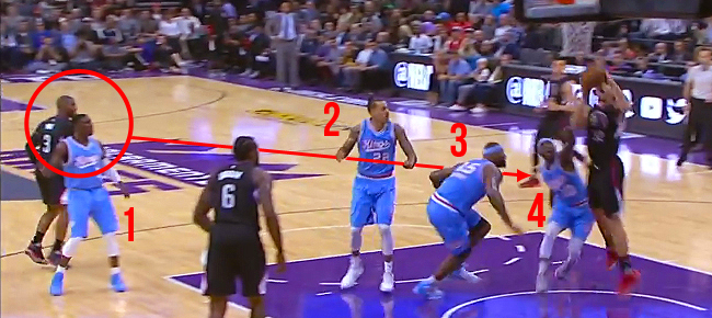Chris Paul's RIDICULOUS Pass Through Four Kings Defenders (VIDEO)