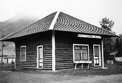 a Banff cabin
