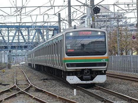 東海道線 快速アクティー品川行き3 E231系1000番台(2018.11川崎駅ホーム拡張工事に伴う運行)